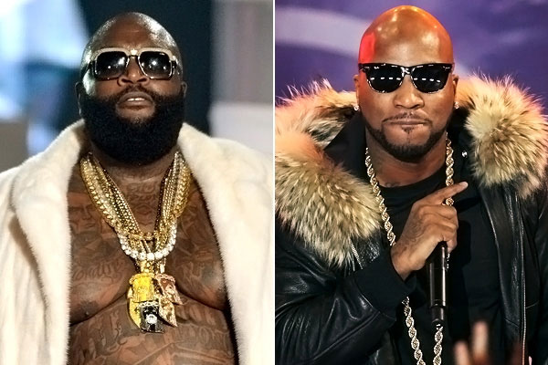 Rick Ross & Young Jeezy exchange blows and shots fired at BET Awards.