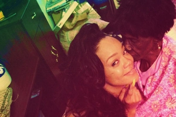 RIHANNA RETURNS TO LATE GRANDMOTHER'S HOME