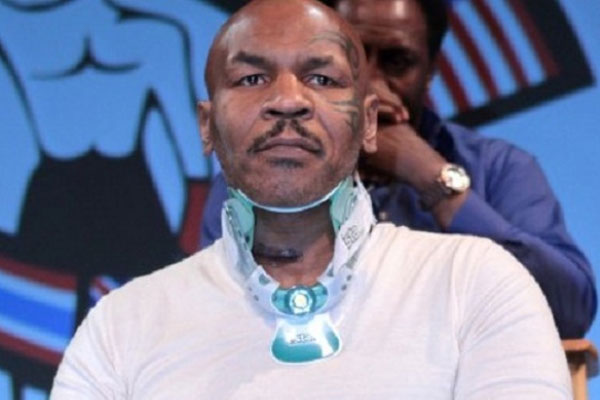 Mike Tyson Neck Brace