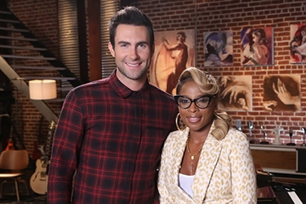 Mary J. Blige to team up with Adam Levine on the Voice