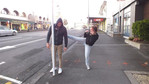 K'Lee and Wai try 'Street Pole Dancing'