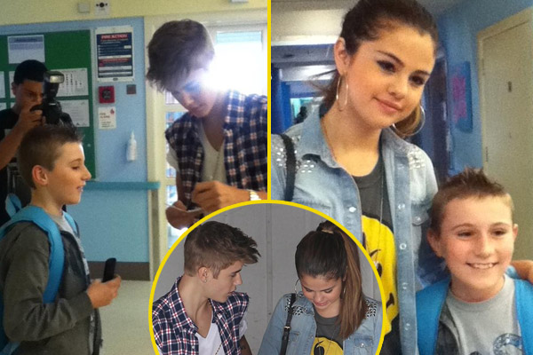 Justin Bieber and Selena Gomez visit sick kids at Starship Hospital