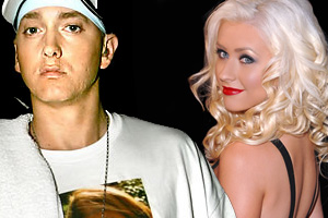 AGUILERA KEEN TO WORK WITH OLD FOE EMINEM?