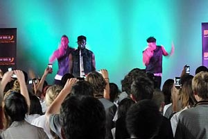 Timomatic performs at Pukekohe Hight