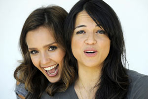Jessica Alba and Michelle Rodriquez