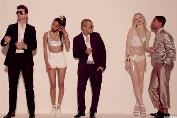 Robin Thicke ft. T.I. and Pharrell 'Blurred Lines'