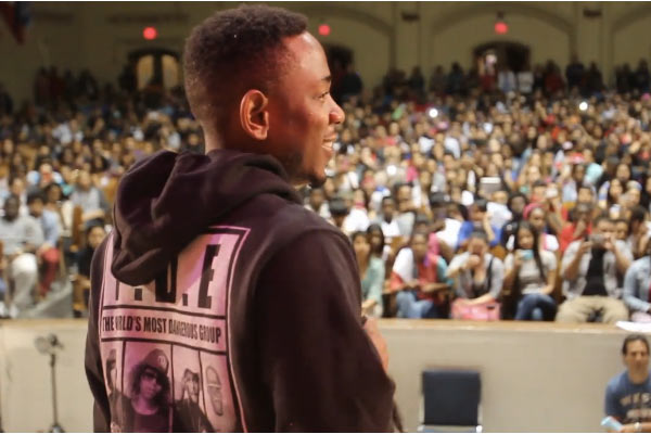 Kendrick Lamar Principal for a day!