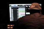P-Money in the studio with M.O.P