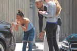 Chris Brown and Karrueche Tran in car accident