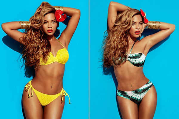 Air Brushed photos of  Beyonce ditched