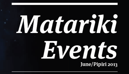 What's happening in Christchurch for Matariki 2013?