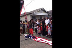 Lil Wayne tramples the American Flag