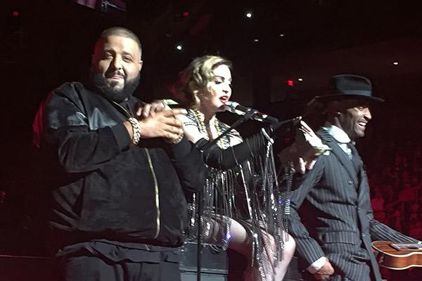 VIDEO: DJ Khaled showers Madonna with diamonds