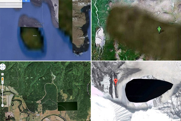 Places so secret they're blurred out on Google Earth