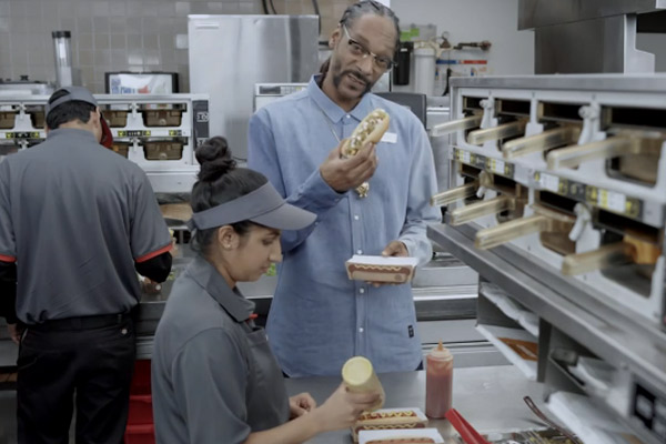 Snoop Dogg teaches BK employees how to cook 'Grilled Dogs'