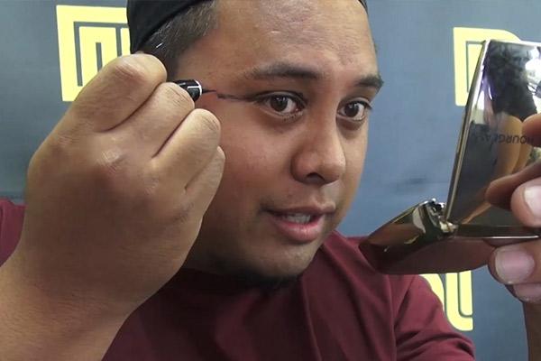 Fame Tries Eyeliner
