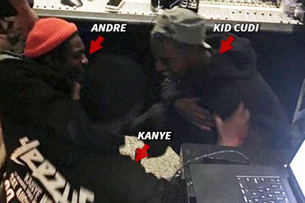 André 3000 takes a random Uber passenger to the studio to see Kanye work on 'Waves'