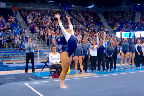 Gymnast does the Whip + Nae Nae, and even Hits The Quan for her Floor Routine