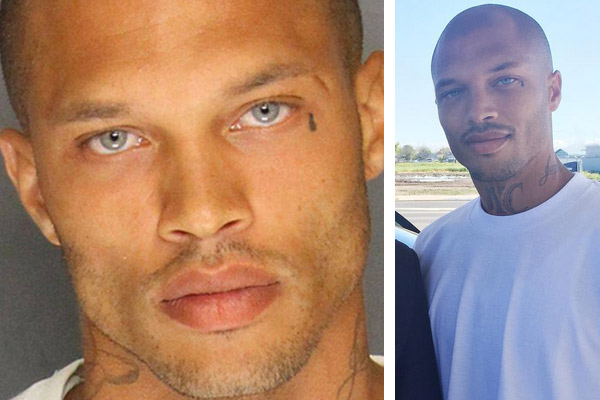 The 'hot felon'  is out of Prison + ready to kick off his modeling career