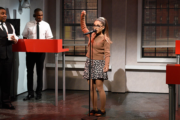 Ariana Grande impersonates Shakira, Rihanna, Whitney Houston and more in 'SNL' Tidal Skit