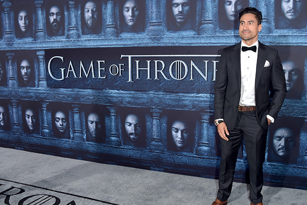 Joe Naufahu snapped on the Game of Thrones red carpet