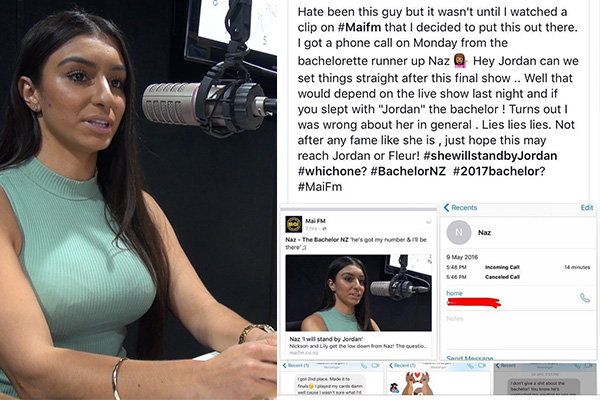 Naz - The Bachelor NZ Runner Up's Ex slams her online