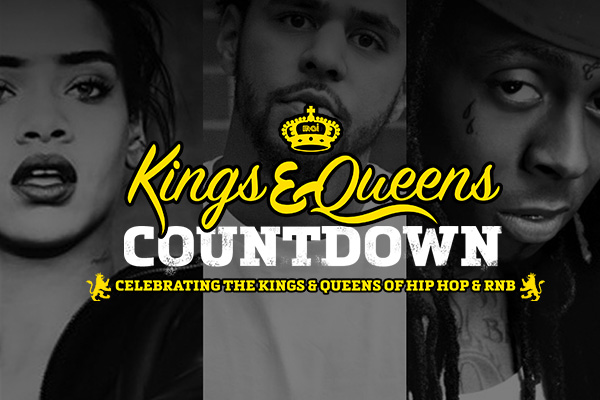 Kings and Queens of Hip Hop + RnB Countdown