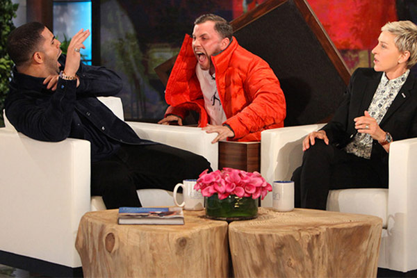 WATCH: Ellen scares the s#!t out of Drake