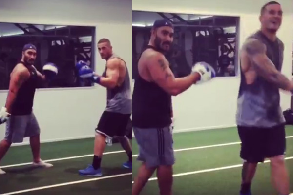 VIDEO: Sonny Bill Williams and Henry Faafili #RunningManChallenge