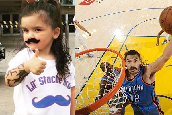 Adorable kid dresses up as Steven Adams, is the real winner of Thunder-Warriors Game 4