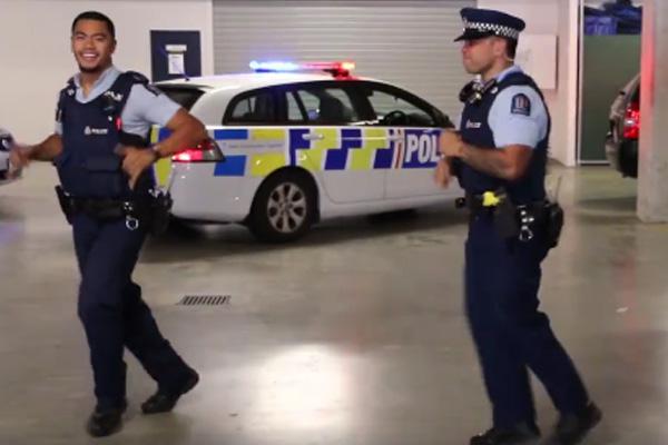 NZ Police get amongst the #RunningManChallenge