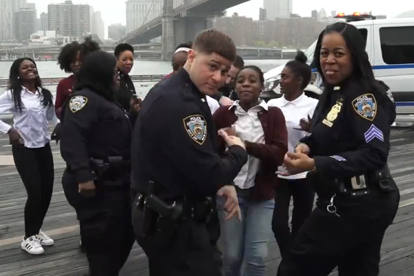 The NYPD responds to the NZ Police #RunningManChallenge