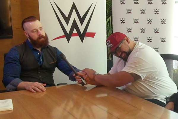 WATCH: Sheamus from WWE and Nate share a moment