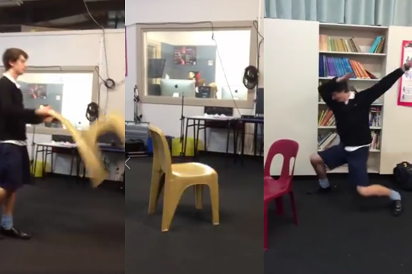 Kiwi kids go viral with #ChairFlipChallenge