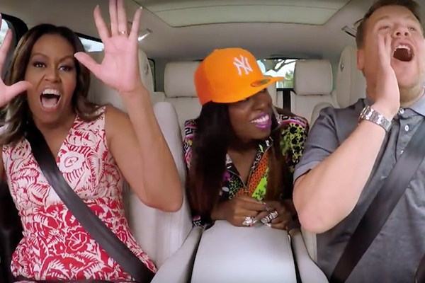 Michelle Obama + Missy Elliott get their freak on in Carpool Karaoke
