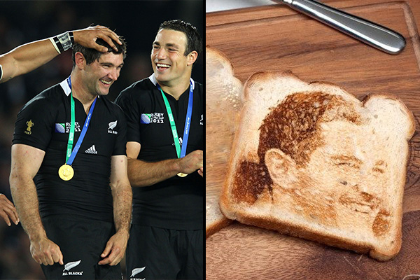 There's a piece of toast selling on Trademe with Stephen Donald's face on it