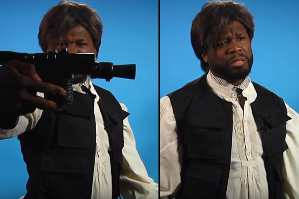 Watch 50 Cent audition for the main role in Star Wars