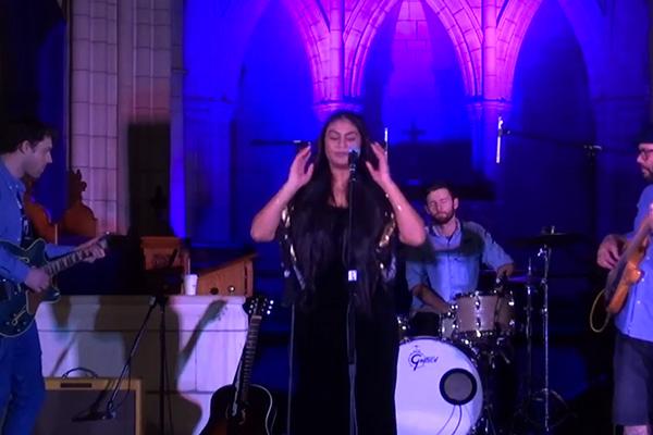 Aaradhna performs 'Brown Girl' live at St Matthews Church