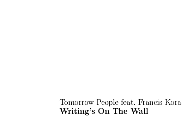 Tomorrow People ft. Francis Kora - Writing's On The Wall